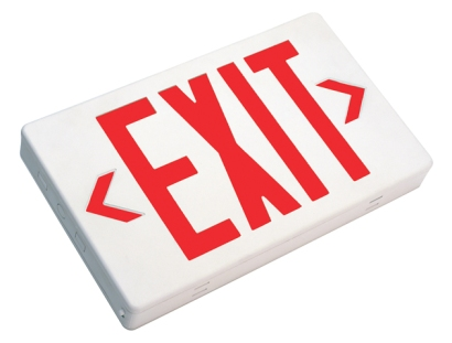 LED Exit sign, test sku